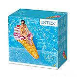 ✅Пляжный надувной матрас - плот Intex 58762 «Мороженое», 224 х 107 см, фото 3