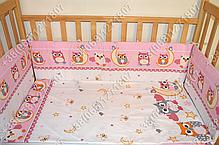 """Детское постельное белье в кроватку """"Бим Бом"""" комплект 5 ед. (сова розовый), фото 3"""