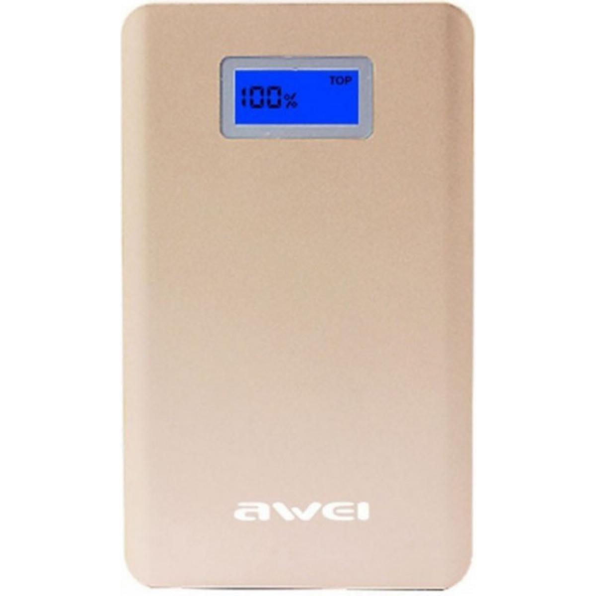Портативное зарядное устройство Power Bank Awei P83K с LCD дисплеем 10000 mAh