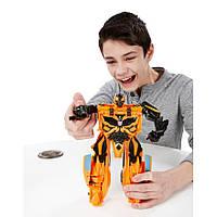 Большая игрушка-трансформер Бамблби - Bumblebee, TF4, 1-Step Mega, Hasbro Уценка - 138338