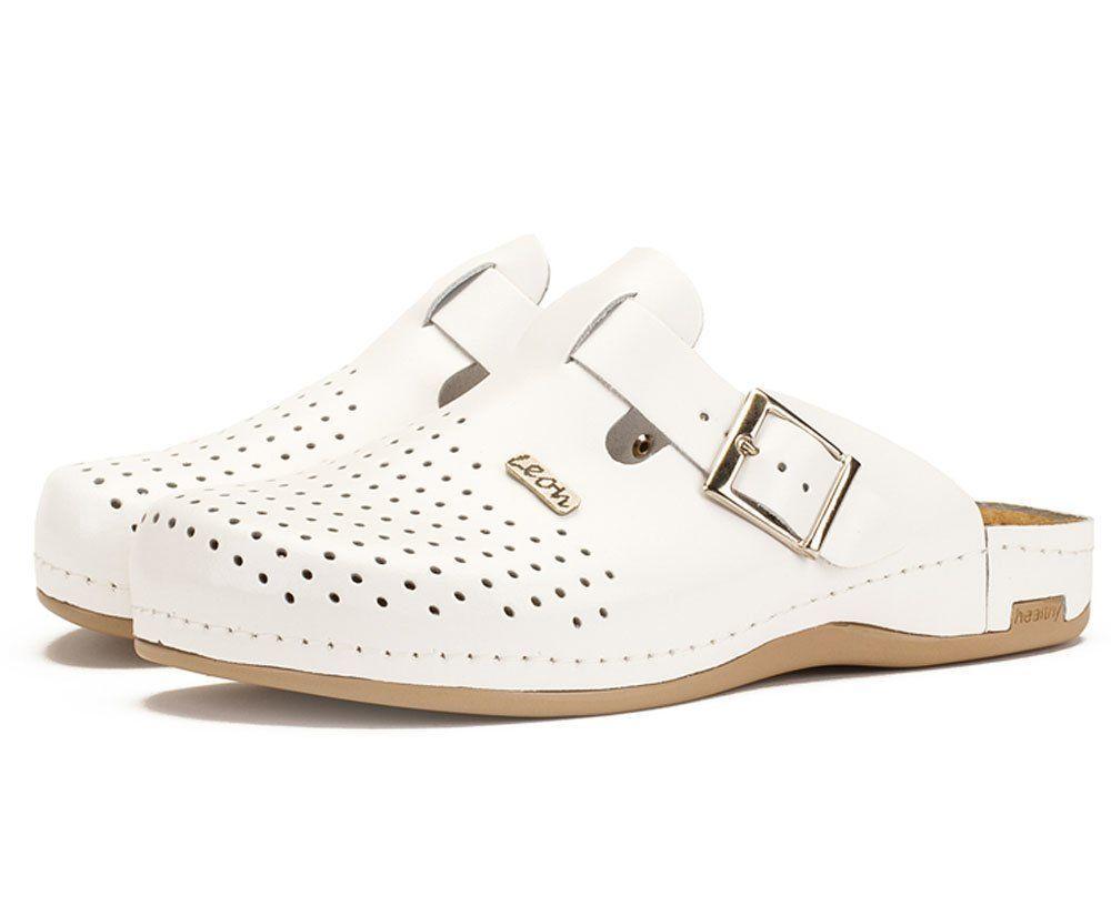 Мужские тапочки-сабо LEON 700M, цвет белый, размер 41