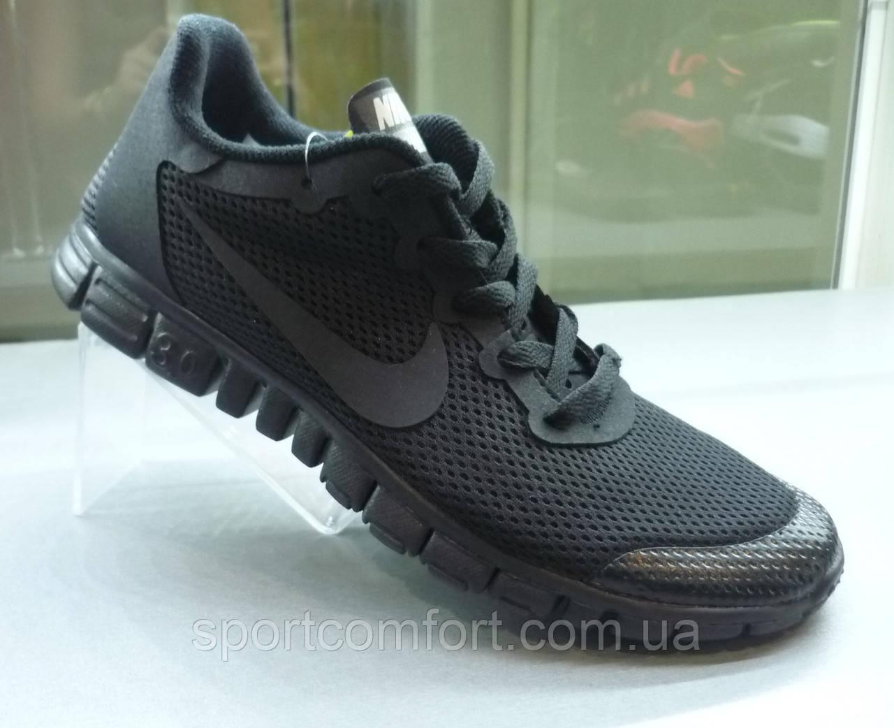 Кроссовки Nike Free 3.0 V2 All черные , фото 1