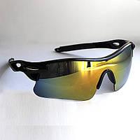 Очки спортивные Robesbon тактические велосипедные спортивные велоочки MD Chameleon Gold