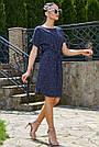 Женское летнее платье-туника, синее в горох, повседневное, молодёжное, свободное, пляжное, фото 3