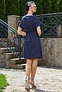 Женское летнее платье-туника, синее в горох, повседневное, молодёжное, свободное, пляжное, фото 5