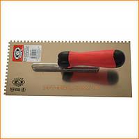 Терка для гипса, 280х130 мм зуб 4х4 ручка двухкомп (OLEJNIK)