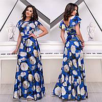 """Шикарное платье макси с цветочным принтом размер L """"Малибу"""""""