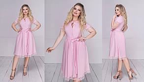 Платье  БАТАЛ миди в расцветках  73074, фото 2