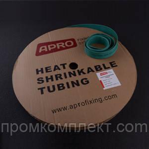 Термоусаживаемая трубка 6мм зеленый 100м APRO