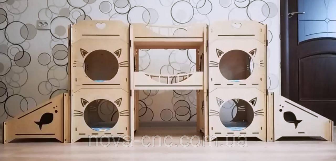 Модульный домик для кошек