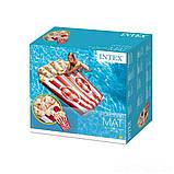 ✅Пляжный надувной матрас - плот Intex 58779 «Попкорн», 178 х 124 см, фото 3