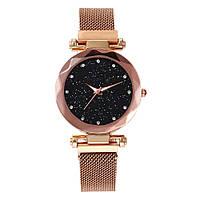 Женские часы STARRY SKY (Звёздное небо) на магнитной застёжке (Золотые)