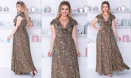 Платье  в пол принт в расцветках  702177, фото 2