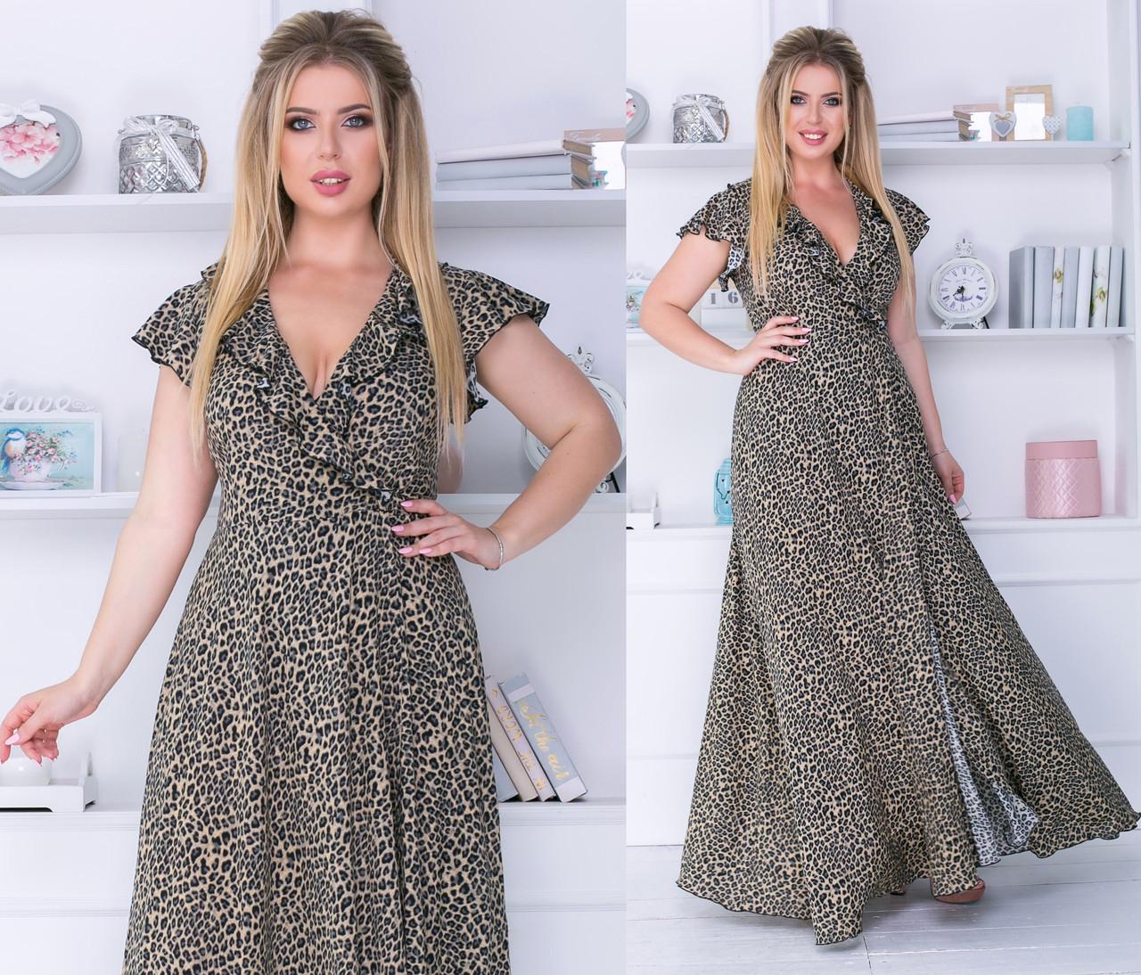 Платье  в пол принт в расцветках  702177