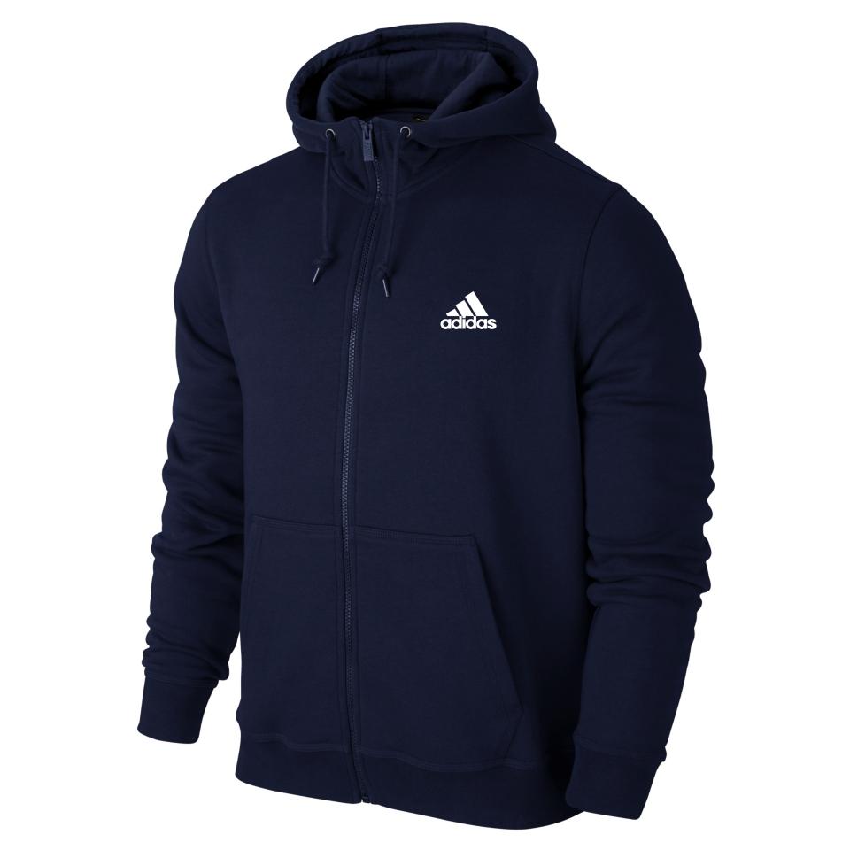 Спортивная мужская кофта на змейке Adidas, синяя