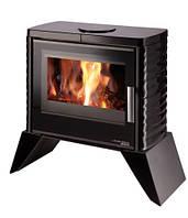 Кафельная печка на дровах Haas+Sohn Skive-C Черная.