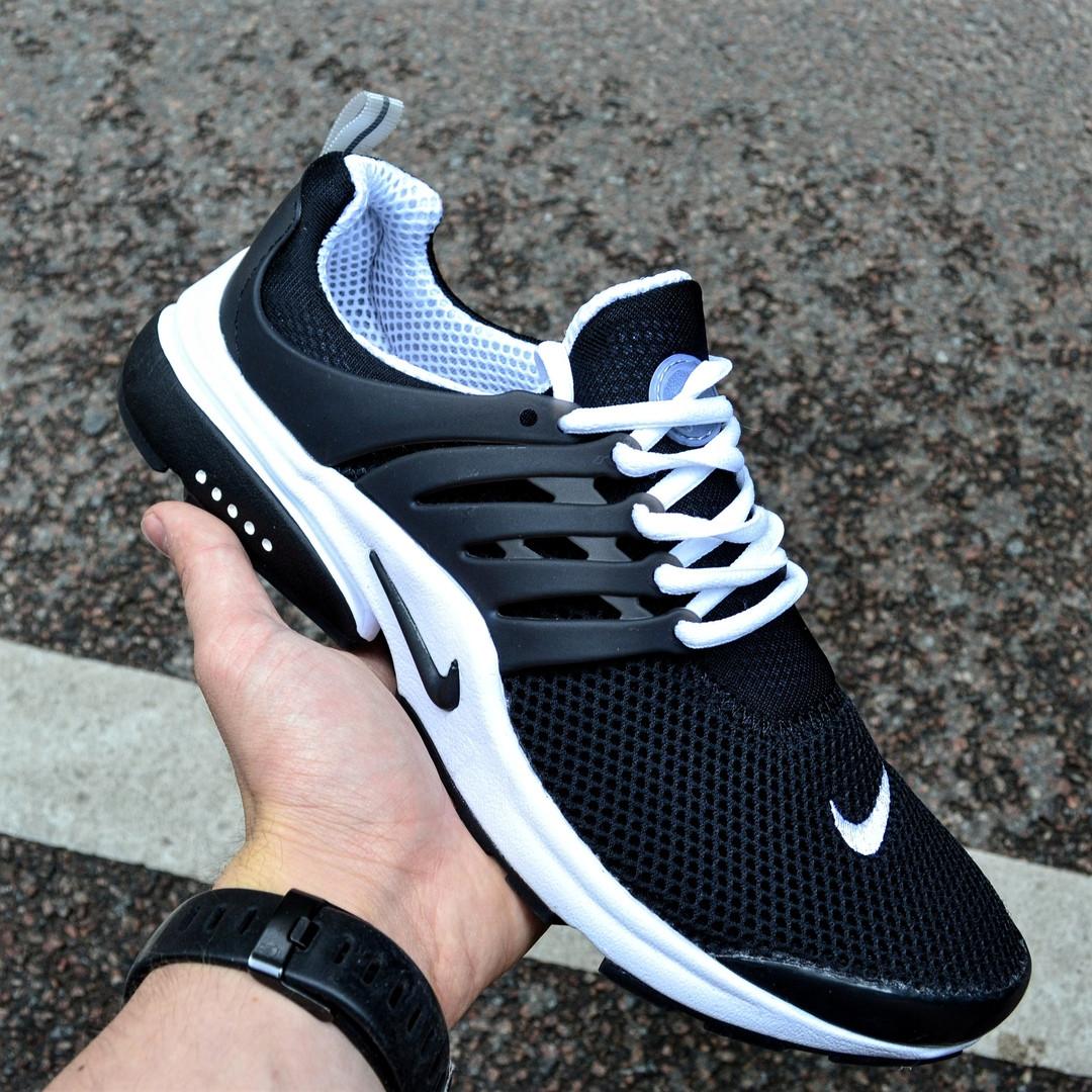 """Мужские кроссовки Nike Air Presto """"Black"""" черные в сетку. Живое фото (Реплика ААА+)"""