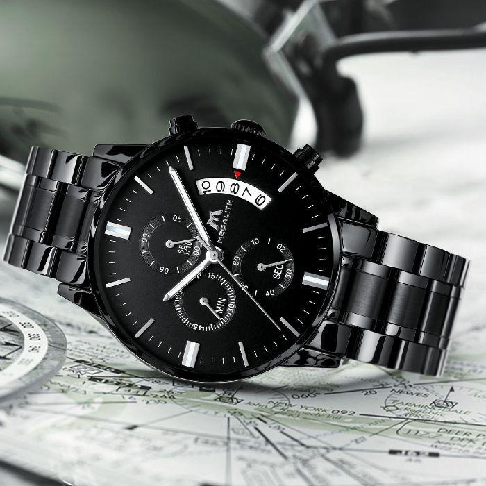 Чоловічі наручні годинники MegaLith Super