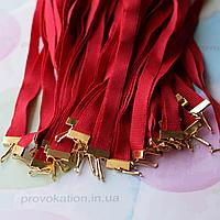 Репсовая лента для медалей и наград, красная, 10мм, 65см