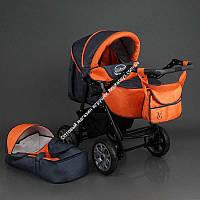 Коляска для детей Viki ( 86- C 16 (темно-серый с оранжевым)  (ОПТОМ)