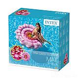 ✅Пляжний надувний матрац - пліт Intex 58787 «Рожева Квітка», 142 х 142 см, фото 3