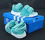 Женские сандалии Adidas (бирюзовые), фото 2