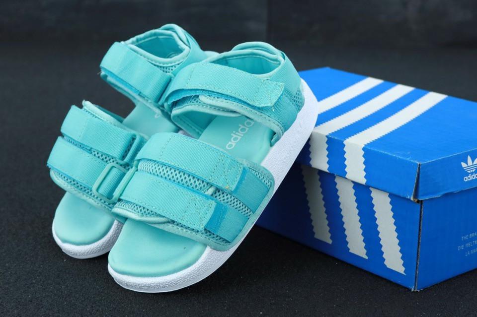 Женские сандалии Adidas (бирюзовые)