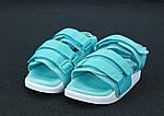 Женские сандалии Adidas (бирюзовые), фото 3