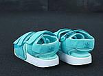 Женские сандалии Adidas (бирюзовые), фото 4