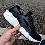 Мужские кроссовки Nike Huarache Black&White черные с белым . Живое фото (Реплика ААА+), фото 2