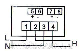 Схема подключения электросчетчиков КоммунарСО-ЭА15-R