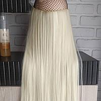 Одиночная широкая прядь цвет №613 блонд с желтинкой