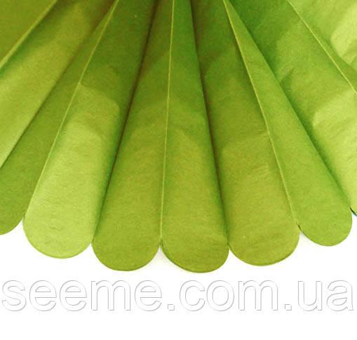 Бумажные помпоны из тишью «Oasis Green», диаметр 25 см.