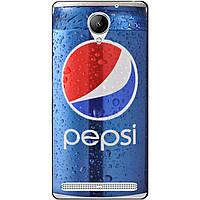 Бампер силиконовый чехол для Lenovo Vibe C2 k10a40 с рисунком Pepsi