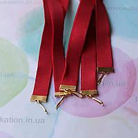 Репсовая лента для медалей и наград, красная, 15мм, 65см, фото 1