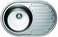 Мойка кухонная Cristal UA7108ZS (ROMA PLUS) круглая с полкой врезная 770x500х180 Satin