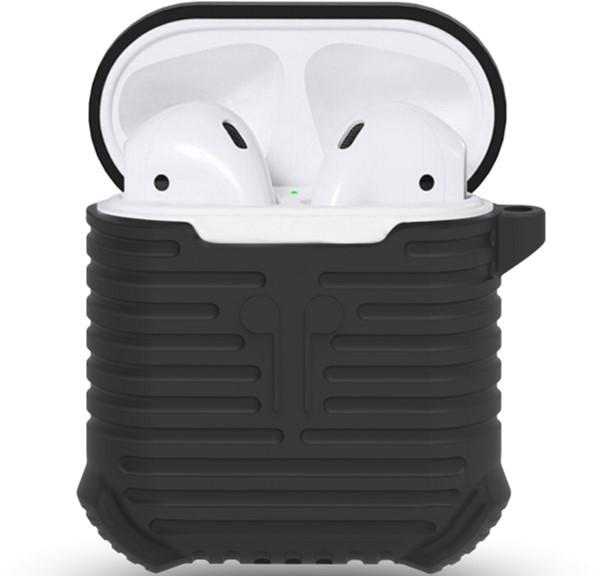 Чохол i-Smile для навушників AirPods Протиударний + карабін Чорний (123184)