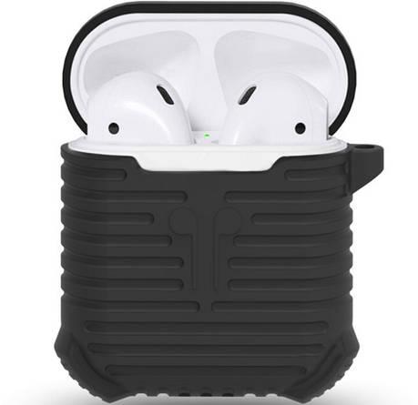 Чохол i-Smile для навушників AirPods Протиударний + карабін Чорний (123184), фото 2