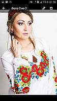 Вышиванка женская с нежными красивыми цветами , фото 1