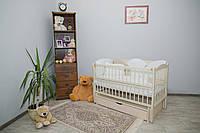 Кроватка для новорожденного Элит цвета Слоновая кость с ящиком и маятником