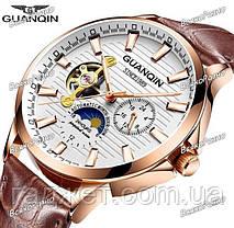 Мужские механические наручные часы GUANQIN, фото 3