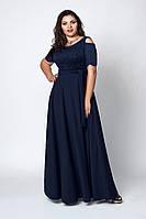 Великолепное женское платье в пол с гипюром 52-58