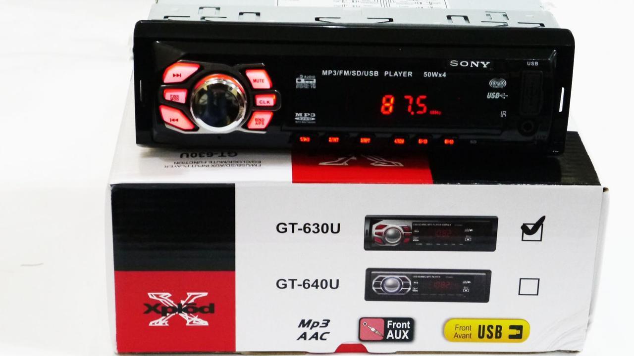 Автомагнитола mp3 usb/sd/fm GT 630U ISO