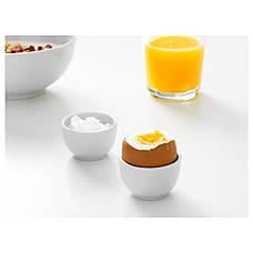 ИКЕА/365+ Миска / подставка для яйца, с округлыми стенками, белый, 2 шт, 5 см, 40282998, ИКЕА, IKEA, IKEA/365+, фото 3