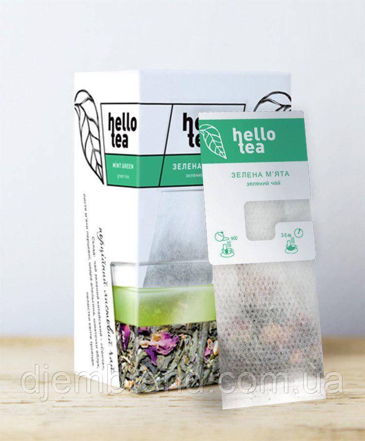 Чай пакетированный Hello tea Mint green 20шт Мята