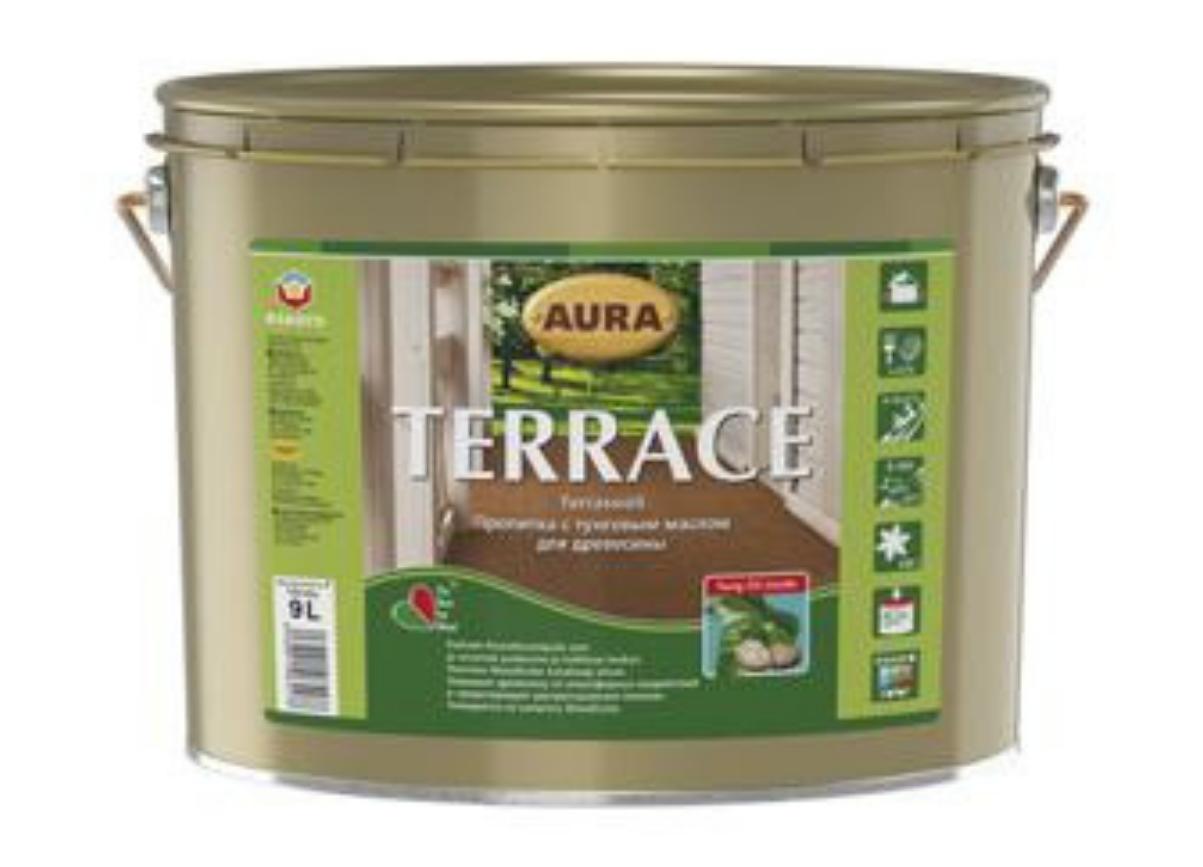 Масло для террас с воском Aura Terrace 9л Бесцветный