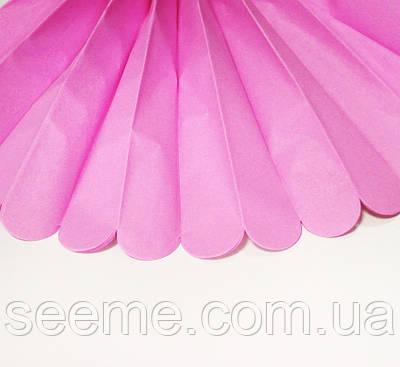 Паперові помпони з тишею «Fuchsia», діаметр 25 див.