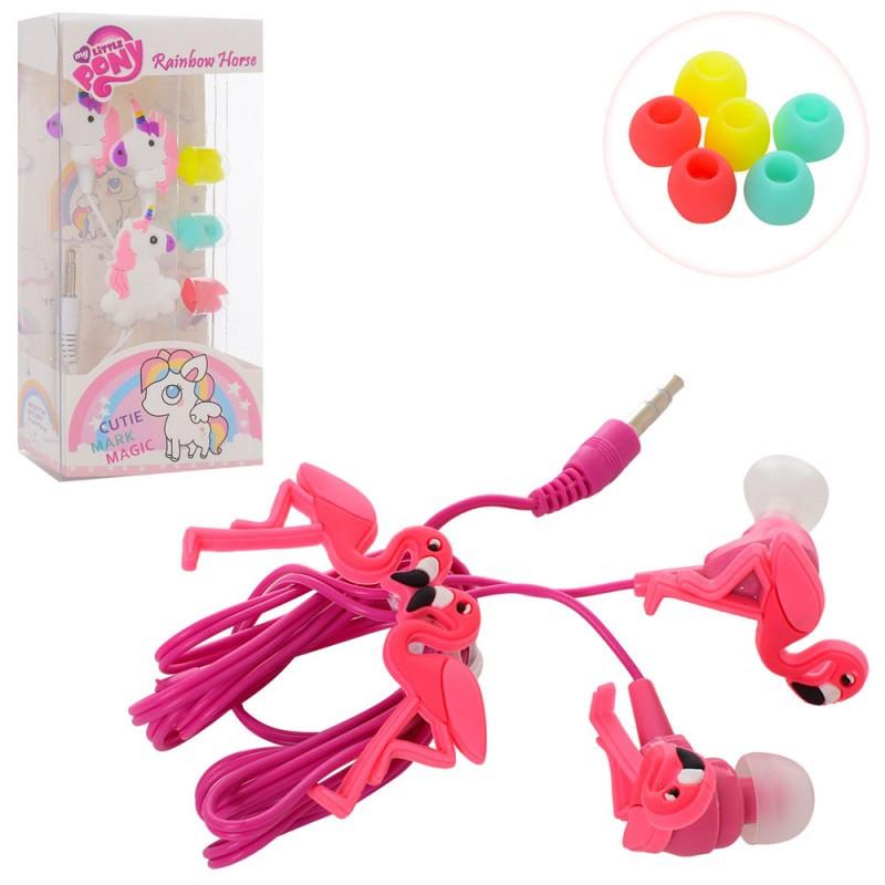 Аксессуары для телефона, наушники, 2 вида (фламинго, Литл Пони), MK2704-1
