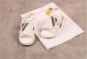 Босоножки детские в сеточку  белые 26-36 р. на липучке унисекс  , фото 2