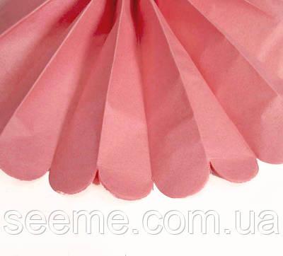 Бумажные помпоны из тишью «Island pink», диаметр 25 см.